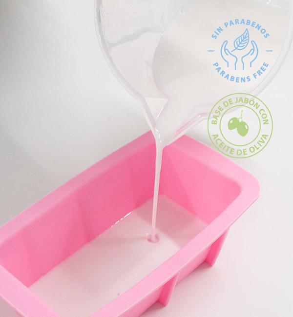 Base de jabón d glicerina con aceite de oliva para hacer jabones