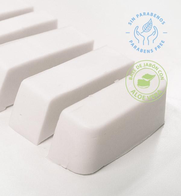 Base de jabón de glicerina con aloe vera para hacer jabones