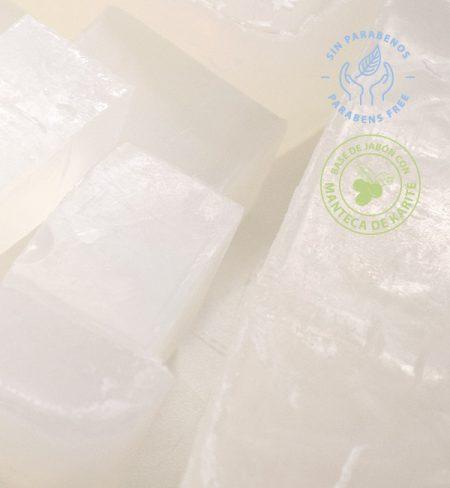 Base de jabón de glicerina con manteca de karité para hacer jabones