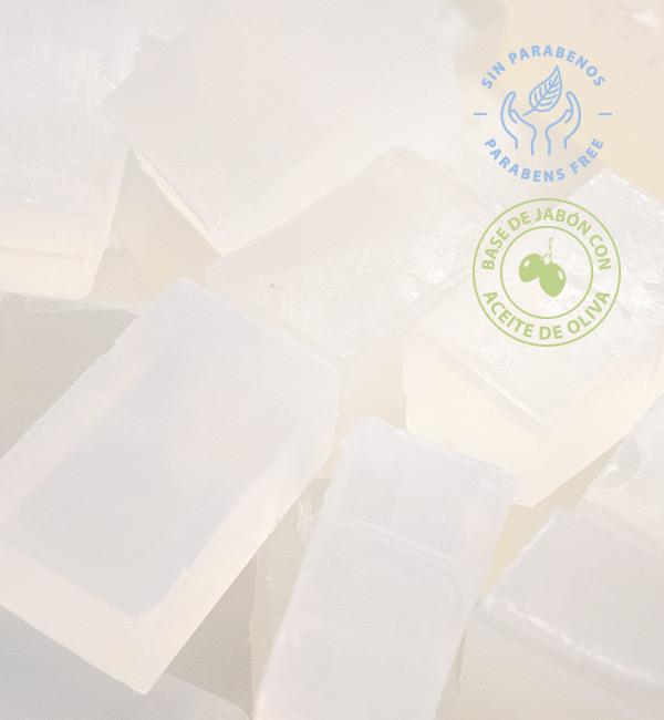 Base de jabón de glicerina con aceite de oliva para hacer jabones